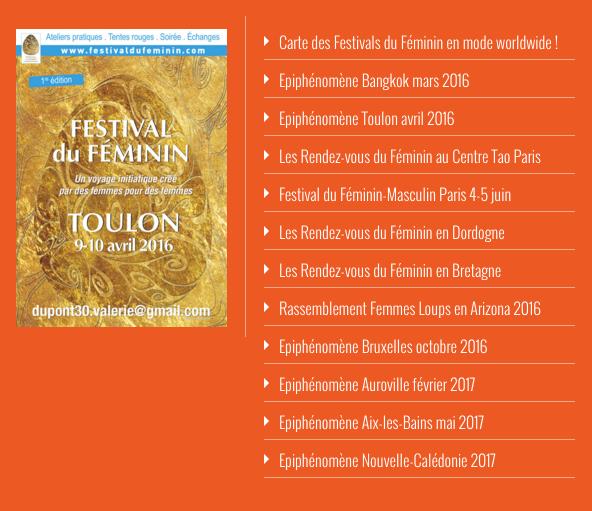 Calendrier Festival.Le Calendrier Des Epiphenomenes Du Festival Du Feminin