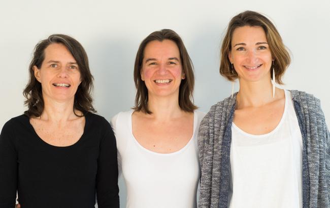 Christine Gatineau, Delphine Lhuillier et Cécile Bercegeay